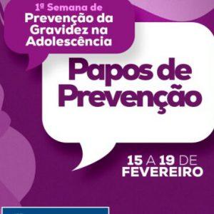 1ª Semana de Prevenção da Gravidez na Adolescência mobiliza famílias atendidas pelo CRAS