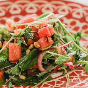 Salada de Melancia, Cebola Roxa e Agrião🍉