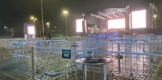 Chuva atrapalha evento teste realizado em Salvador; vídeo