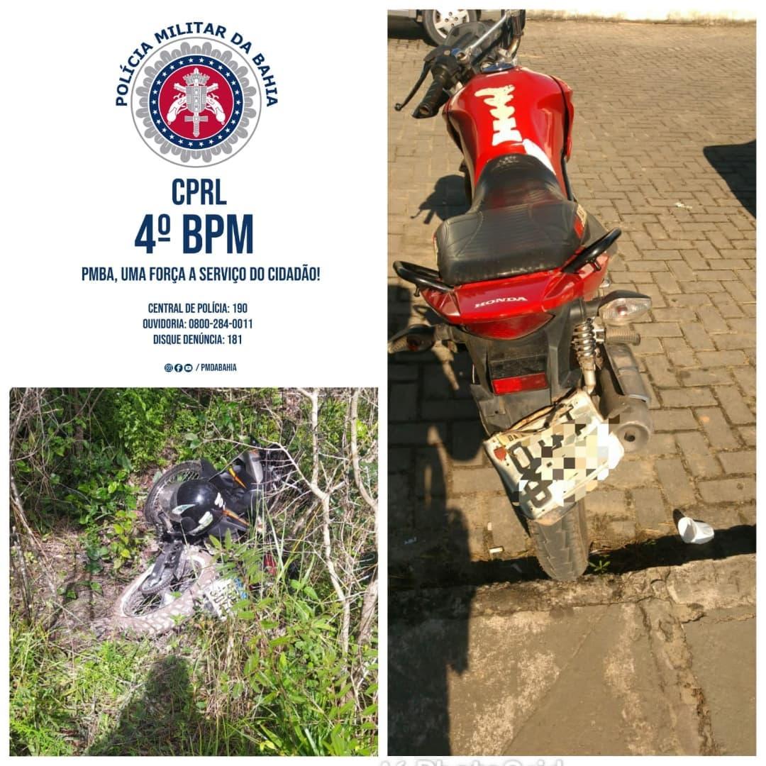Alagoinhas: Policiais do Quarto Batalhão recuperam duas motocicletas roubadas.
