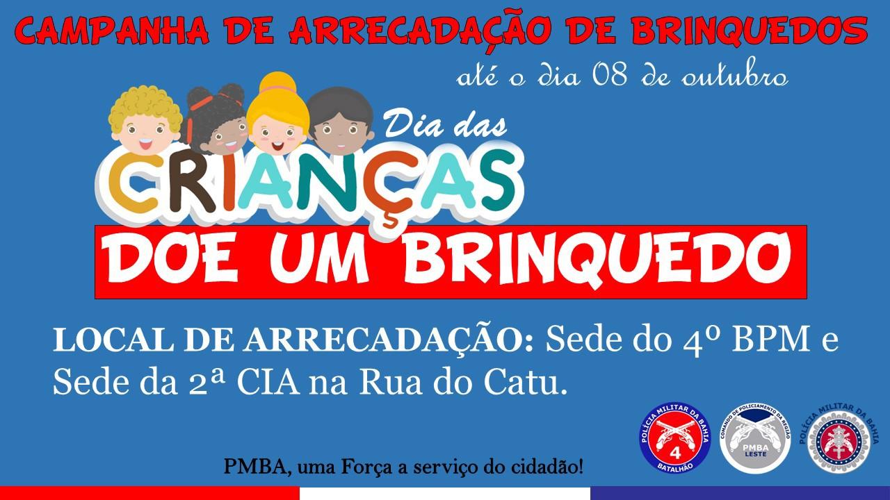 4°BPM de Alagoinhas realiza campanha em prol do dia das crianças