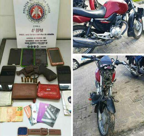 Dupla suspeita de roubos é presa após trocar tiros com policiais militares em Alagoinhas