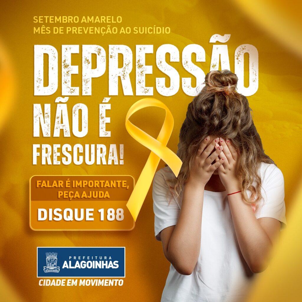 Campanha Setembro Amarelo alerta para a prevenção ao suicídio; confira a programação: