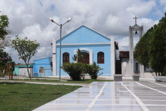 Totalmente revitalizada, a praça de Estevão será entregue à comunidade no próximo domingo (19)