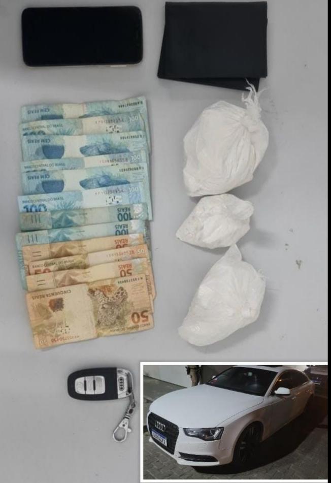 CETO do Quarto Batalhão e CIPE Litoral Norte realizam prisão por tráfico de drogas.