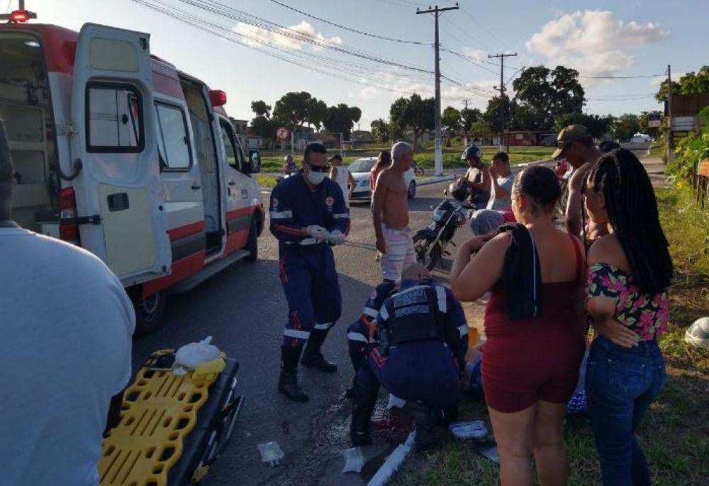 Alagoinhas: mulher tem pé decepado durante acidente de moto