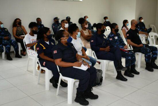 Agentes da Patrulha Maria da Penha recebem capacitação da Secretaria Estadual de Políticas para as Mulheres