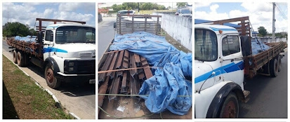 Caminhão foi apreendido com trilhos da linha férrea em Alagoinhas
